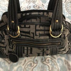 Tommy Hilfiger black & gray purse